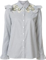 Suno embroidered ruffle blouse
