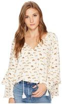 Kensie Cheetah Animal Top KS0K4330 Women's Clothing