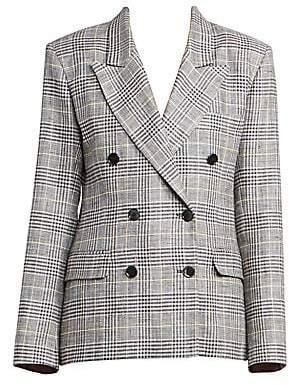 Isabel Marant Women's Celeigh Check Linen & Silk Blazer