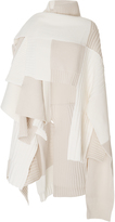 Burberry Patchwork Merino Wool and Cashmere-Blend Poncho