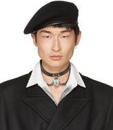 Alexander McQueen Black Wool Beret