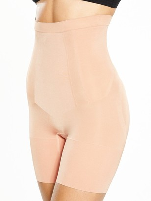 Spanx Super Firm Control Oncore High Waisted Mid Thigh Short - Soft Nude