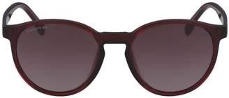 Lacoste Unisex Plastic Round Color Block Sunglasses