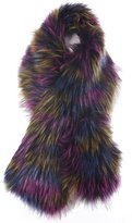 Soul Young Women's Faux Fox Fur Scarf Collar Wrap Infinity