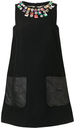 Fendi Pre-Owned bead-embellished A-line mini dress