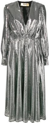 MSGM sequin belted dress