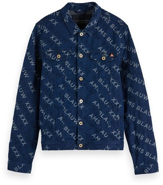 Scotch & Soda Printed Denim Trucker Jacket