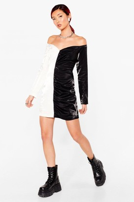 Nasty Gal Womens Meet us Halfway Petite Mini Dress - White