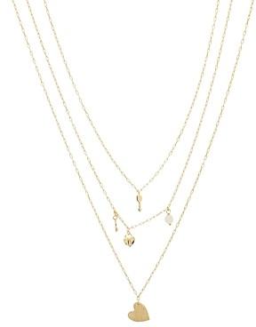Gorjana Love Charm Layered Necklace, 16