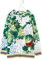 Dolce & Gabbana hydrangea-print hooded sweatshirt