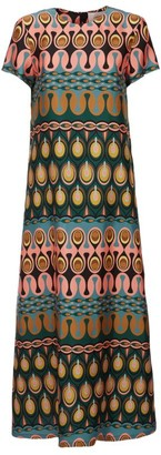 La DoubleJ Swing Printed Maxi Dress