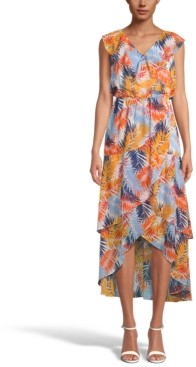 INC International Concepts Inc Printed Tiered Midi Dress, Created for Macy's