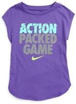 Nike Action Packed Game Graphic Tee (Toddler Girls & Little Girls)