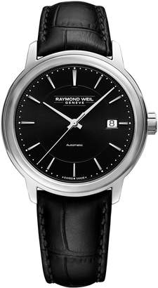 Raymond Weil Maestro Stainless Steel Leather-Strap Automatic Watch
