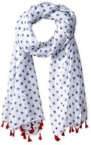 D&Y Women's Mini Stars with Tassels Americana Scarf