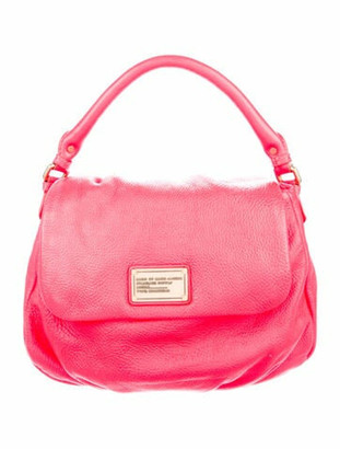 Marc by Marc Jacobs Grained Leather Satchel Fuchsia