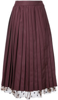 Muveil under-layer pleat skirt - women - Polyester/Rayon - 38