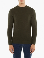A.p.c. Green Wool Claude Sweater