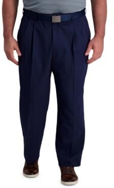 Haggar Men's Big & Tall Classic-Fit Cool Right Performance Flex Pleated Solid Dress Pants