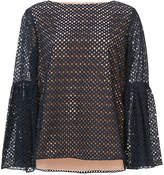 Prabal Gurung embroidered perforated blouse