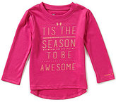 Under Armour Baby Girls 12-24 Months Christmas Tis The Season Long-Sleeve Tee