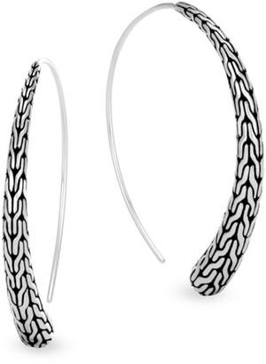 John Hardy Classic Chain Sterling Silver Threader Hoop Earrings