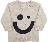 kidscase Happy Face Flecked Stockinette-Stitched Sweater-CREAM