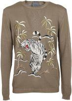 Laneus Jungle Print Sweatshirt