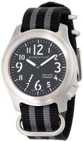Momentum Men's 1M-SP76B7S Base Layer Stainless Steel Watch with Black Dial and Striped Nylon Band