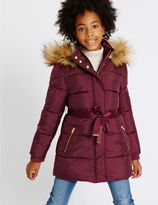 Marks and Spencer Faux Fur Zip Through Padded Coat with StormwearTM (3-14 Years)