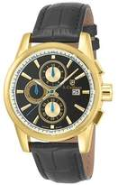 Invicta Men's SC0255 Quartz Chronograph Black and Gold Dial Strap Watch - Black