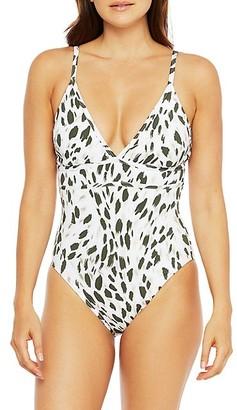 La Blanca Brushstroke Petals One-Piece Swimsuit