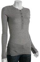 mid grey cotton-cashmere basic henley