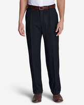Eddie Bauer Men's Wool Gabardine Trousers - Pleated