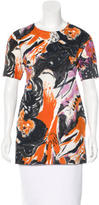 Marni Floral Print Short Sleeve Tunic