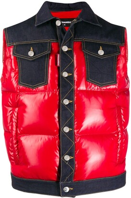 DSQUARED2 Quilted Colour-Block Gilet