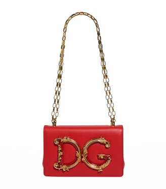 Dolce & Gabbana Leather Girls Cross Body Bag