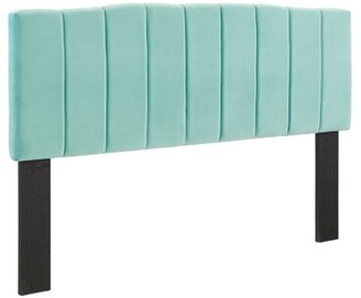 Everly Quinn Camilla Upholstered Wingback Headboard Color: Mint