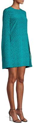 Michael Kors Polka Dot Cape Dress