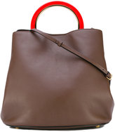 Marni Pannier tote bag - women - Calf Leather/Lamb Skin/Polyamide/Brass - One Size