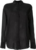 Forte Forte concealed fastening sheer shirt - women - Silk/Cotton - I