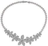 Nina Lilac Flower Statement Necklace