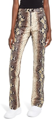 I.AM.GIA Brandy Snakeskin Print High Waist Pants
