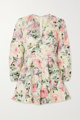 Faithfull The Brand Maribelle Floral-print Linen Playsuit
