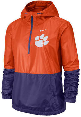 Nike Women Clemson Tigers Half-Zip Jacket