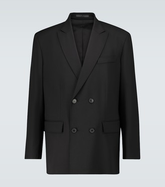 Valentino Double-breasted wool-blend blazer