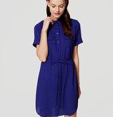 LOFT Petite Short Sleeve Shirtdress