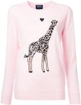 Markus Lupfer sequin giraffe jumper - women - Merino - XS
