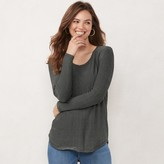 Lauren Conrad Women's Long Sleeve Shirttail Tunic