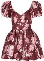 LoveShackFancy Hansel Floral-print Taffeta Mini Dress
